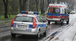 Wypadek na DK 10. Matka z dwójką niemowląt trafiła do szpitala