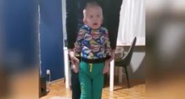 Wzruszające nagranie z 4-letnim Olusiem, który wypadł w Toruniu z 11. piętra