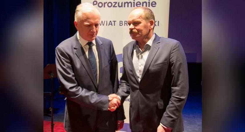 Polityka, Jerzy Cieszyński poparciem premiera - zdjęcie, fotografia