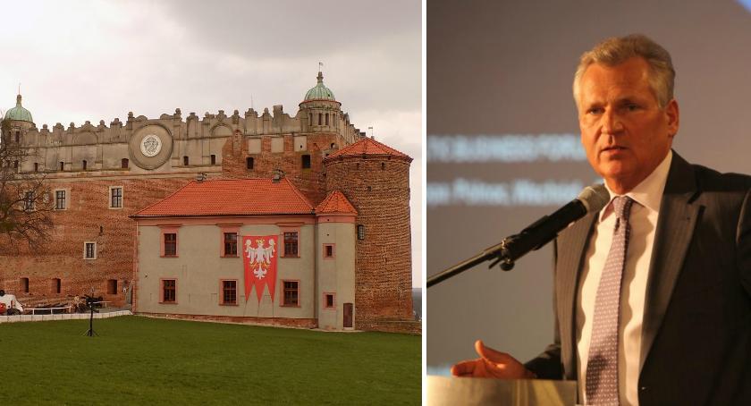 Zamek w Golubiu-Dobrzyniu, Aleksander Kwaśniewski Golubiu Dobrzyniu - zdjęcie, fotografia