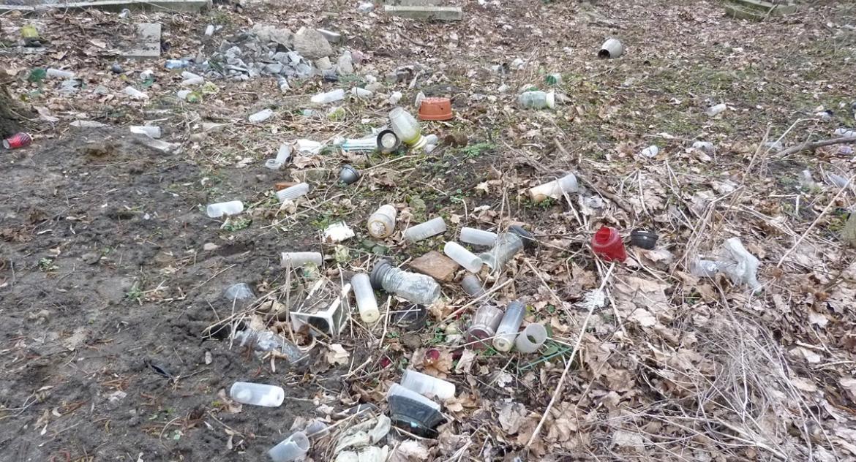 """Interwencje, Śmieci cmentarzu """"Gorzej zwierzęta"""" - zdjęcie, fotografia"""