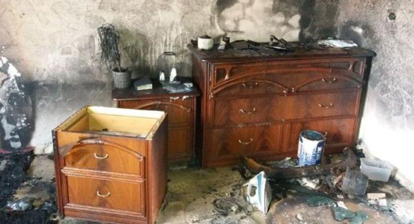 Kronika Kryminalna, Ucierpiał pożarze - zdjęcie, fotografia