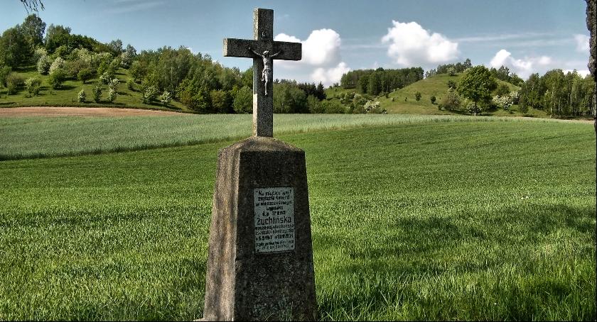 Ciekawostki, Krzyże powypadkowe krajobrazie okolic Brodnicy - zdjęcie, fotografia