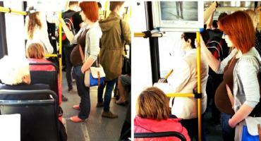 Ciężarna w autobusie? Ustąp miejsca!