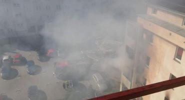 Pożar mieszkania przy Laurowej