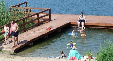 Kąpielisko w Gulbinach nad Jeziorem Dłuskim