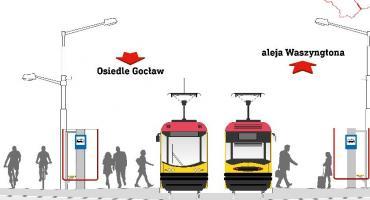 Tramwaj na Gocław - wiemy jak będzie wyglądała przesiadka w Al. Zjednoczenia. Zobaczcie!