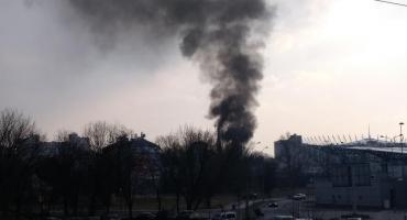 Pożar na Kamionku. Dym nad piekarnią SPC