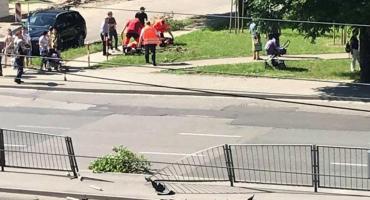 Pomylił pedał hamulca z gazem...Wczorajszy wypadek na Grochowskiej