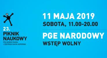 """23 Piknik Naukowy 2019 """"My i Maszyny"""" na Narodowym 11 maja"""