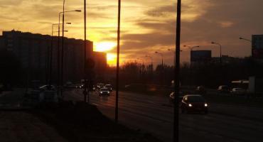 Zachód słońca na Przyczółku Grochowski