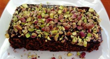 Elwira piecze migdałowiec z sezamem i pistacjami