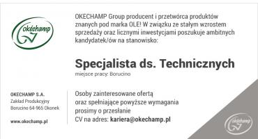 Okechamp zatrudni specjalistę do spraw technicznych