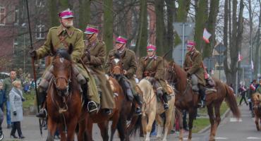 100 lat Niepodległości. Miejskie uroczystości pod pomnikiem marszałka Piłsudskiego