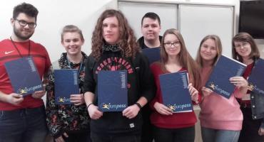 Uczniowie otrzymali certyfikaty Europass Mobility