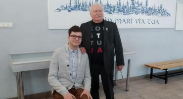 Spotkał się z Lechem Wałęsą. Jakub Kania w finale olimpiady o Laureatach Pokojowej Nagrody Nobla