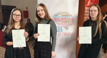 Uczennice I LO z sukcesami na Olimpiadzie Wiedzy o Mózgu