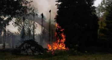 Pożar trawy przy hotelu w centrum Szczecinka. Dym dostrzegły miejskie strażniczki
