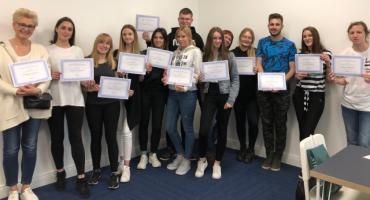 Młodzież z ZS nr 1 w Szczecinku po praktykach zawodowych w Irlandii