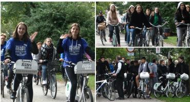 """Akcja """"Naokoło jest Wesoło"""" w Szczecinku po raz dziewiąty! Setki uczestników na rowerach"""
