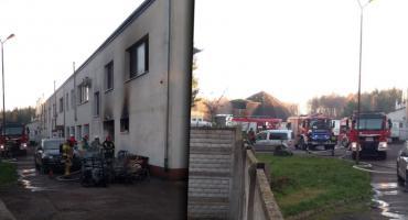 Chwile grozy na ul. Pilskiej w Szczecinku. Ogień w dużym zakładzie