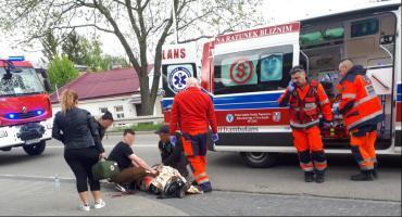Wypadek przy stacji LOTOS koło Dominikanów