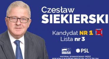 Czesław Siekierski - kandydat nr 1 lista nr 3