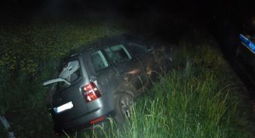 Pijany kierowca  wjechał do rowu w Tyniowicach