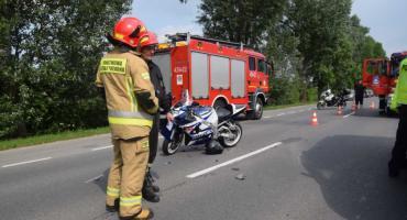 Wypadek z udziałem motocyklisty w Radymnie