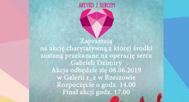 Artyści z sercem dla Gabrysi w galerii r_z w Rzeszowie