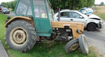 Pijany traktorzysta wymusił pierwszeństwo w Szówsku