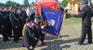 OSP Zamiechów zyskało sztandar i figurę św. Floriana (ZDJĘCIA, WIDEO)