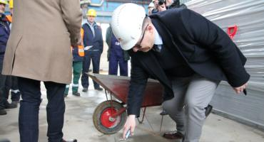 MPEC Łomża: Wmurowanie aktu erekcyjnego pod kocioł na biomasę [FOTO i VIDEO]