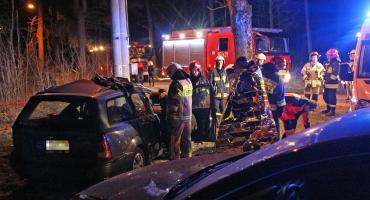 Dwie osoby w szpitalu po groźnym wypadku w Jednaczewie [FOTO]