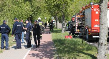 Grobla Jednaczewska: Wypadek paralotniarza [FOTO]