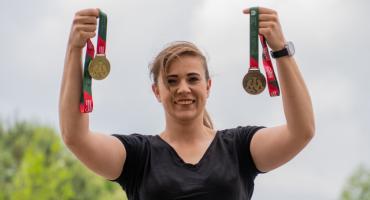 Złoty medal kulomiotki z PWSIiP
