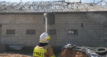 Pożar obory w Siemieniu Nadrzecznym [FOTO]