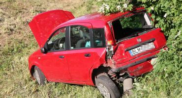 Kierująca w szpitalu po wypadku na DK61 [FOTO]