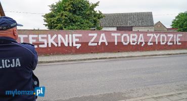 Wandalizm, antysemityzm, prowokacja czy uliczny przekaz? Kontrowersyjny napis w Jedwabnem! [VIDEO i FOTO]