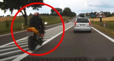 DK63: Niecierpliwy motocyklista spotkał nieoznakowane BMW [VIDEOREJESTRATOR]