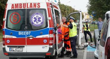 Łomża: Młody rowerzysta zderzył się z samochodem nauki jazdy [FOTO]