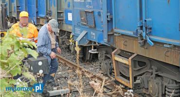 Wykoleił się pociąg. Nietypowe zdarzenie w Łomży [VIDEO i FOTO]