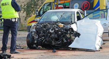 Nowogród: Wypadek z udziałem ciężarówki. Dwie osoby w szpitalu [FOTO]