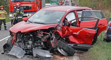 Wypadek czterech aut za Konarzycami. Trzy osoby w szpitalu! [FOTO]