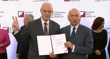Marek Komorowski odebrał zaświadczenie o wyborze