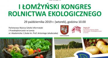 Jutro I Łomżyński Kongres Rolnictwa Ekologicznego