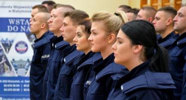 Nowi funkcjonariusze w szeregach podlaskiej policji [FOTO]