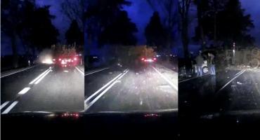 Mrożące krew w żyłach nagranie śmiertelnego wypadku za Rogienicami [VIDEO]