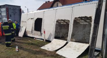 Przewróciła się ciężarówka przewożąca świnie [VIDEO]