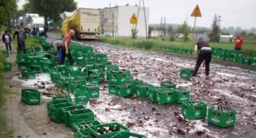 Piwo zablokowało drogę